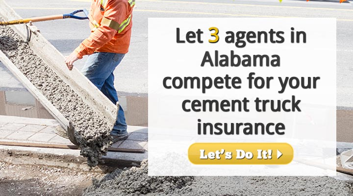 Alabama Cement Truck Insurance Quotes