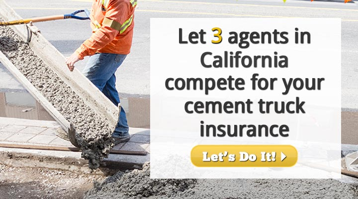 California Cement Truck Insurance Quotes