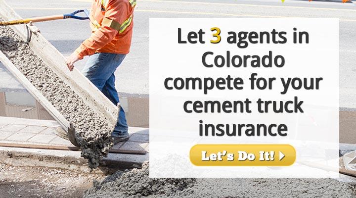 Colorado Cement Truck Insurance Quotes