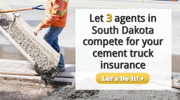 South Dakota Cement Truck Insurance Quotes