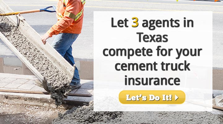 Texas Cement Truck Insurance Quotes